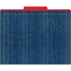 Denim File Folders Set of 12