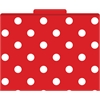 Red & White Dot File Folders Set of 12