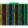 Neon Stripes File Folders Set of 12