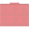 Red Check File Folders Set of 12