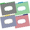Barker Creek Chevron Nautical File Folders, Multi-Design Set of 12