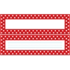Barker Creek Double-Sided Bulletin Board Signs / Name Plates - Red & White Dot Set of 36