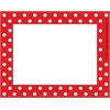 Barker Creek Red & White Dot Name Tags/Self-Adhesive Labels  Set of 45