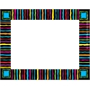 Neon Stripes Name Tags/Self-Adhesive Labels Set of 45