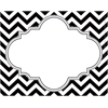 Barker Creek Chevron Black Tie Affair Name Tags/Self-Adhesive Labels  Set of 45