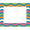 Splash of Color Wave Name Tags/Self-Adhesive Labels Set of 45