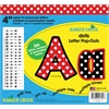 "Barker Creek Dots 4"" Letter Pop-Outs (245 Characters)"
