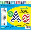 "4"" Letter Pop-Outs - Chevron Nautical (255 Characters)"