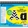"Barker Creek 4"" Letter Pop-Outs - Black Chevron & Dots  (255 Characters)"