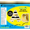 "Barker Creek 4"" Letter Pop-Outs - 24k Gold  (255 Characters)"