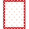 Red & White Dot Paper 50 Sheets