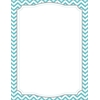 Barker Creek Computer Paper - Turquoise Chevron  50 Sheets