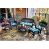Tortuga Outdoor Portside 6Pc Seating - Dark Roast - Haliwell Caribbean