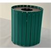 Frog Furnishings 55 Gal. Green Standard Round Receptacle