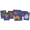 BB SET SEVEN CONTINENTS OF WORLD 7 PHYSICAL MAPS 17 X 24