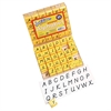 TRANSITIONAL MODERN ALPHABET STAMP SET 1 UPPERCASE