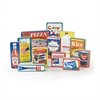 WOODEN GROCERY PRODUCTS FULL-SIZE 12 PIECES HARDWOOD