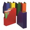 DEMCO MAGAZINE FILES 6/PK ONE EACH GREEN BLUE ORANGE PURPLE RED AND YELLOW