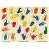MELISSA & DOUG PUZZLE SIGN LANGUAGE ALPHABET PEG