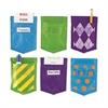 SOLIDS AND PATTERNS MAGNETIC MINI POCKETS SET OF 6