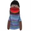 GET READY KIDS HALF BODY FAMILY PUPPETS BOY AFRICAN AMERICAN