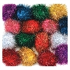PACON 2IN GLITTER POMS ASSORTMENT 16 PCS