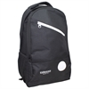 BACKPACK BLACK W/ 2 LARGE ZIPPER COMPARTMENTS