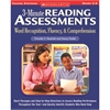 SCHOLASTIC TEACHING RESOURCES 3 MINUTE READING ASSESSMENTS WORD RECOGNITION GR 5-8