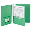 SMEAD MANUFACTURING SMEAD 25CT DARK GREEN TWO POCKET FOLDERS WITH FASTENERS