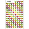 (12 PK) PAPER HEARTS SUPERSHAPE SUPERSPOTS / SHAPES STICKERS