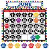 TEACHER CREATED RESOURCES COLORFUL PAW PRINTS CALENDAR BB SET