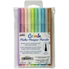 UCHIDA OF AMERICA 10 PIECE SET BRUSH TIP PASTEL COLORS