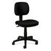 basyx by HON HVL610 Light Duty Low-Back Task Chair | Seat Depth | Black Fabric