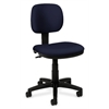 basyx by HON HVL610 Light Duty Low-Back Task Chair | Seat Depth | Navy Fabric