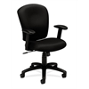 HVL220 Mid-Back Task Chair | Center-Tilt | Adjustable Arms | Black Fabric