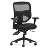 basyx by HON HVL532 Mesh High-Back Task Chair | Asynchronous Control, Seat Glide | 2-Way Arms | Black Mesh