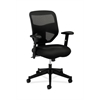 basyx by HON HVL531 Mesh High-Back Task Chair | Center-Tilt | Adjustable Arms | Black Sandwich Mesh Seat