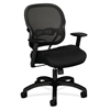basyx by HON HVL712 Mesh Mid-Back Chair | Synchro-Tilt | Adjustable Arms | Black Sandwich Mesh