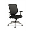 Boda Mesh Back Task Chair | Synchro-Tilt | Adjustable Arms | Black Sandwich Mesh Seat | Platinum Frame