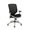 Boda Mesh Back and Seat Chair | Synchro-Tilt | Adjustable Arms | Black Mesh | Platinum Frame