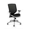 Boda Mesh Back and Seat Chair | Synchro-Tilt | Adjustable Arms | Black Mesh | Platinum Frame