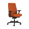 HON Endorse Mid-Back Task Chair | Fabric Outer Back | Built-In Lumbar | Synchro-Tilt, Seat Glide | Tangerine Fabric