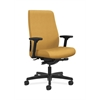 HON Endorse Mid-Back Task Chair | Fabric Outer Back | Built-In Lumbar | Synchro-Tilt, Seat Glide | Mustard Fabric