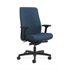HON Endorse Mid-Back Task Chair | Fabric Outer Back | Built-In Lumbar | Synchro-Tilt, Seat Glide | Jet Fabric
