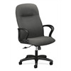 HON Gamut Executive High-Back Chair | Center-Tilt | Fixed Arms | Gray Fabric