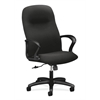 Gamut Executive High-Back Chair | Center-Tilt | Fixed Arms | Black Fabric