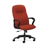 HON Gamut Executive High-Back Chair | Center-Tilt | Fixed Arms | Poppy Fabric