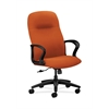 HON Gamut Executive High-Back Chair | Center-Tilt | Fixed Arms | Tangerine Fabric