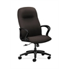 HON Gamut Executive High-Back Chair | Center-Tilt | Fixed Arms | Espresso Fabric