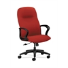 HON Gamut Executive High-Back Chair | Center-Tilt | Fixed Arms | Tomato Fabric